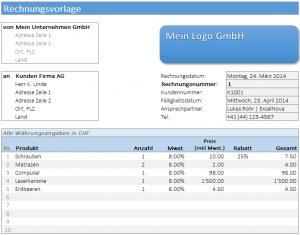 ExcelNova.org - Rechnungsvorlage - Excel